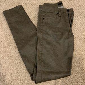 Joe's Jeans Mid Rise Skinny Army Green 26 EUC